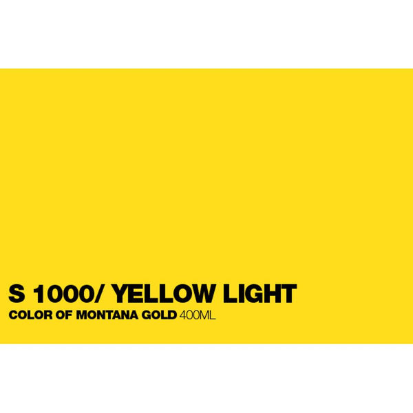 Midoco.ca: Montana GOLD 400mL Spray Paint - Shock Yellow Light