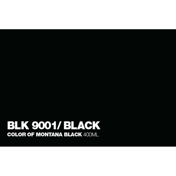 Montana Black 400mL Spray Paint - Black