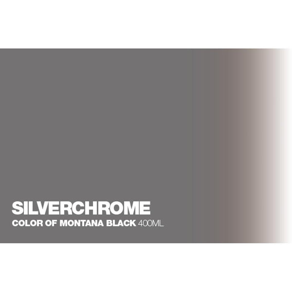 Midoco.ca: Montana BLACK 400mL Spray Paint - Silverchrome
