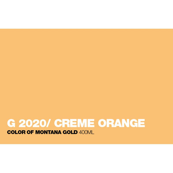 Montana Gold 400mL Spray Paint - Creme Orange