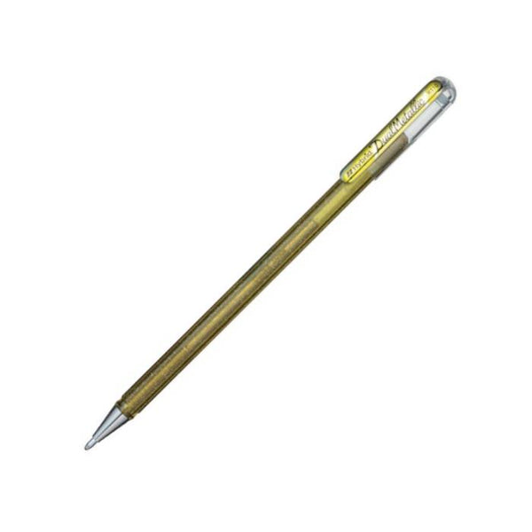 Pentel Dual Metallic Gel Roller 1.0mm Metallic Gold
