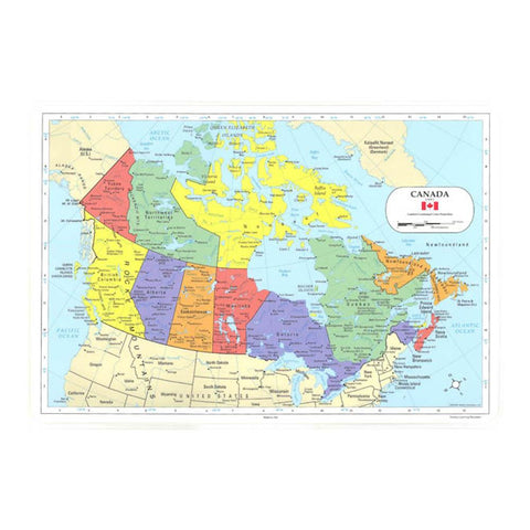 Midoco.ca: Laminated Placemat Map of Canada
