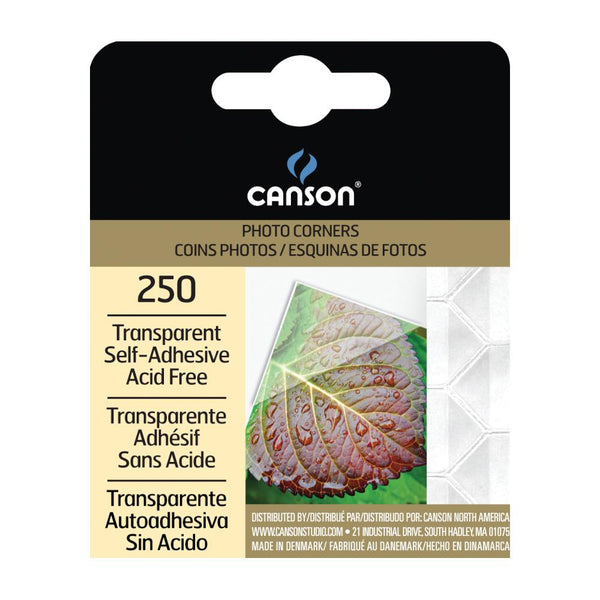 midoco.ca: Canson Transparent Adhesive Photo Corners 250pk