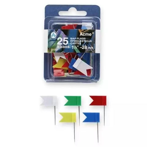 Acme Map Flag Pins Mini