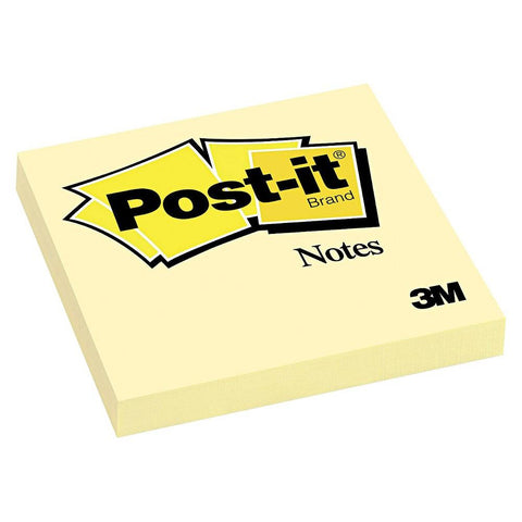 "Post-It Sticky Notes 3x3"" Canary Yellow Pad"