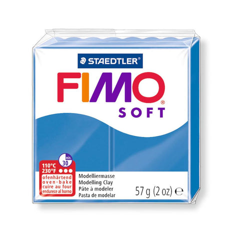 Fimo Soft Polymer 58g Clay Pacific Blue