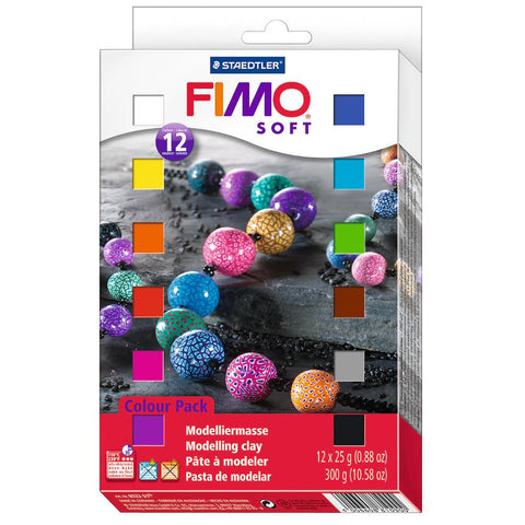Fimo Soft Polymer 29g Clay 1/2 Block Set 12 Pack