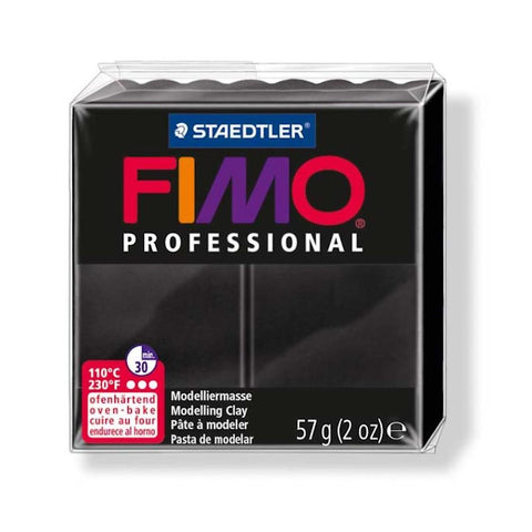 FIMO PROFESSIONAL POLYMER 57G CLAY Black