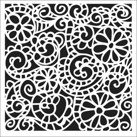 The Crafters Workshop Swirly Garden Stencil