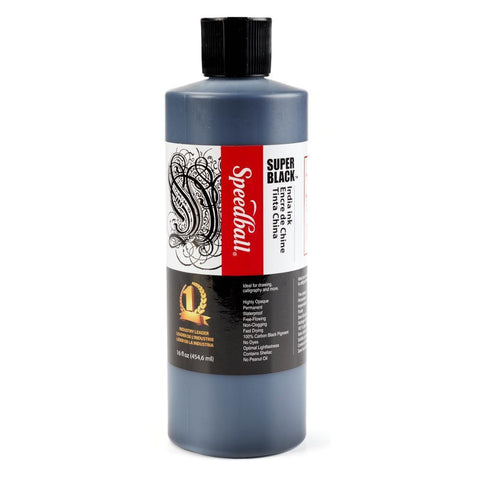 Midoco.ca: Speedball India Ink 16oz Super Black