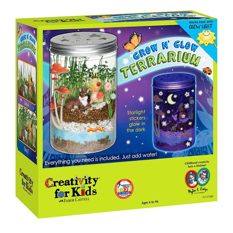 Midoco.ca: Creativity for Kids Grow 'n' Glo Terrarium Kit