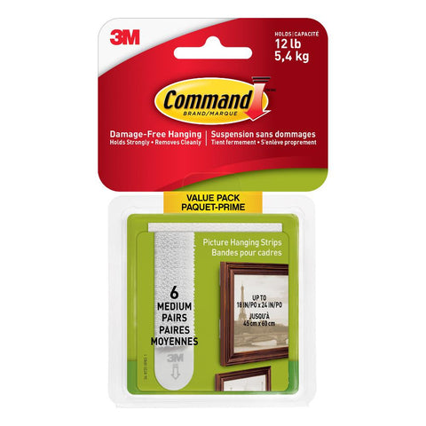 Command Picture Hanging Strips Medium 6pk