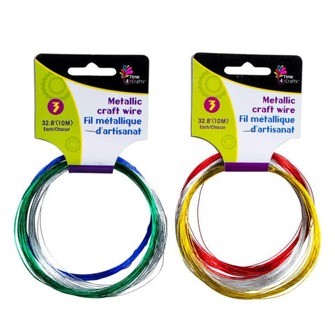 midoco.ca: Time 4 Crafts Metallic Craft Wire 3pk (1 of 2 Styles)