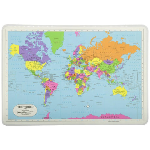 Midoco.ca: Laminated Placemat World Map