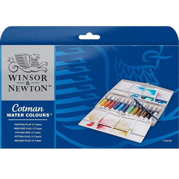 Winsor & Newton Cotman Watercolour Paint 12 Tube Plus Set
