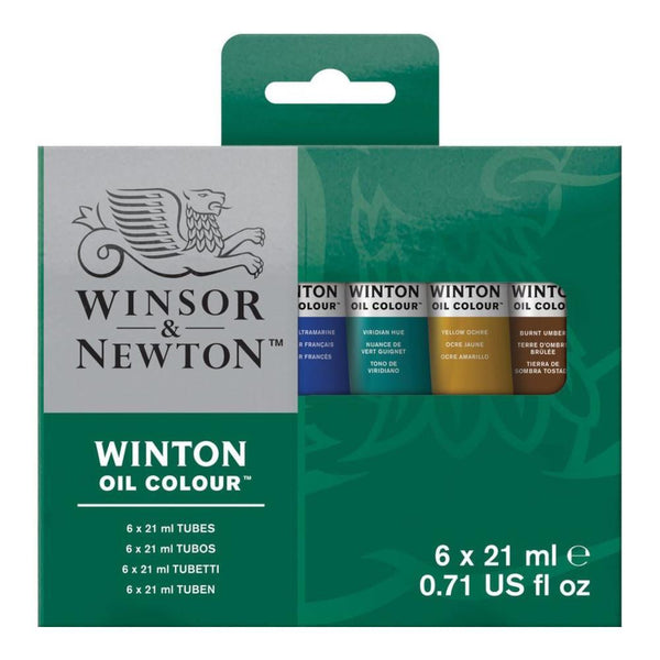 Winsor & Newton Winton Oil Paint Tube 6x21mL Intro Set