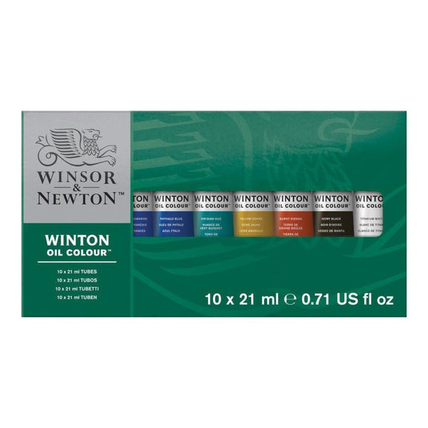 Winsor & Newton Winton Oil Paint Tube 10x21mL Basic Set