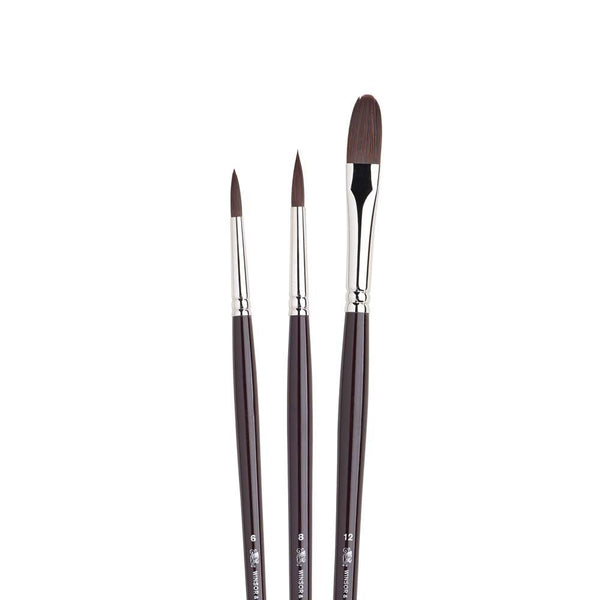 Galeria Synthetic Brush Set 3pk