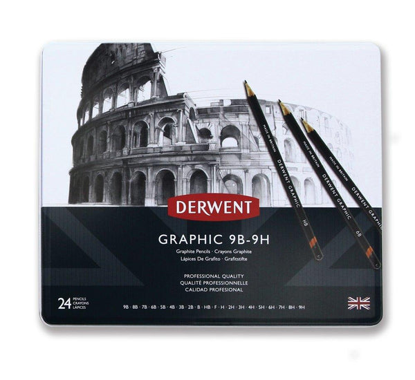 Derwent Graphic Sketch Pencils 24 Full Range Set