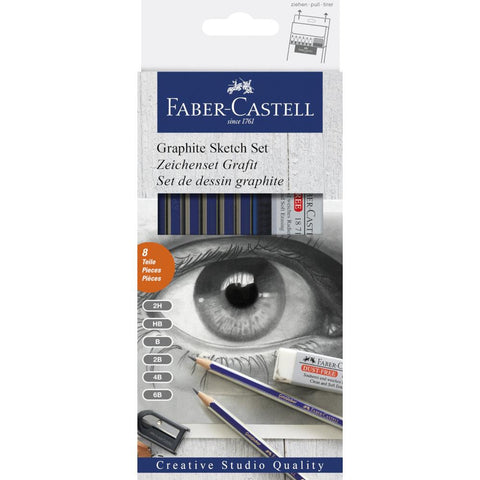 Faber Castell Studio Graphite Sketch Set 8pk