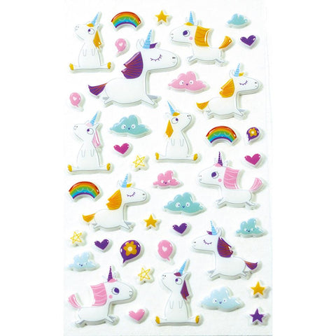 Midoco.ca: Cooky Stickers Unicorns in Sky