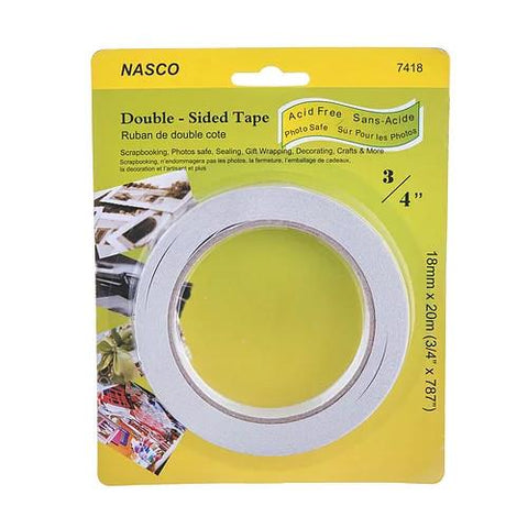 midoco.ca: NASCO Double-Sided White Tape 3/4""