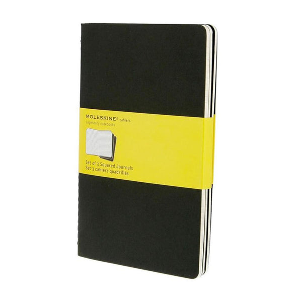 Moleskine Grid Cahier Large 3-Pack - Black