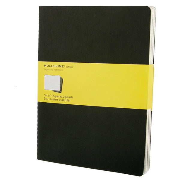 Moleskine Grid Cahier XL 3-Pack - Black