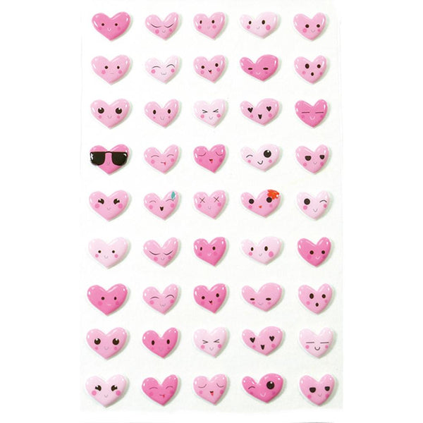 Midoco.ca: Cooky Stickers Emoji Hearts Pink