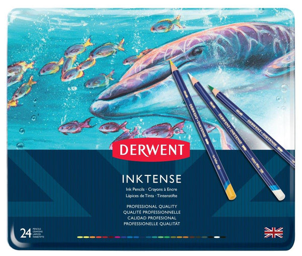 Derwent Inktense Permanent Watercolour Pencil 24 Set
