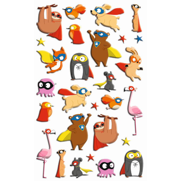 Midoco.ca: Maildor Cooky Stickers Super Hero Animals