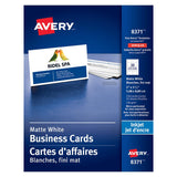 Midoco.ca: Avery Inkjet Business Card Size White
