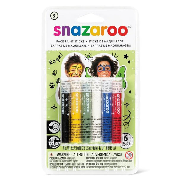 Snazaroo Face Paint Sticks 6pk Rainbow