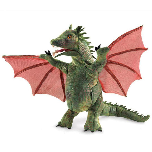 Midoco.ca: Folkmanis Hand Puppet Winged Dragon