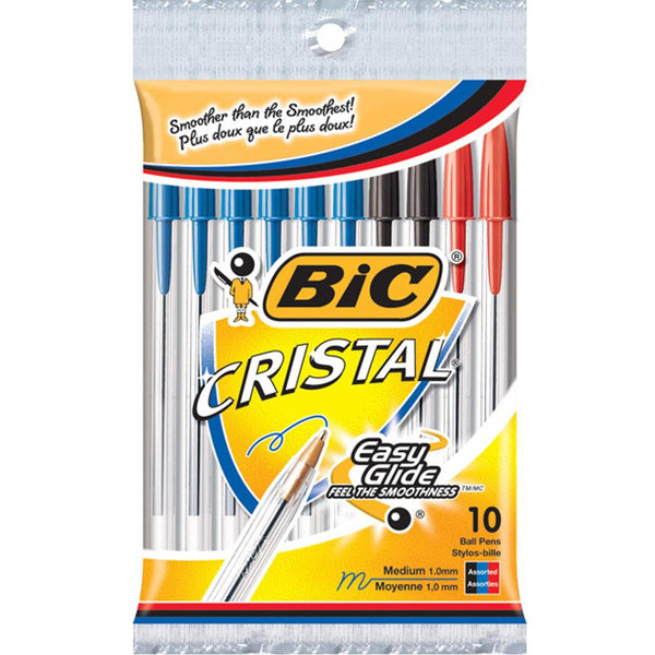 Midoco.ca: Bic Cristal Pens 10pk Assorted Colours