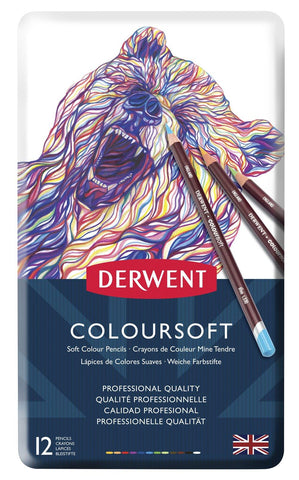 Derwent Coloursoft Pencil 12 Tin Set