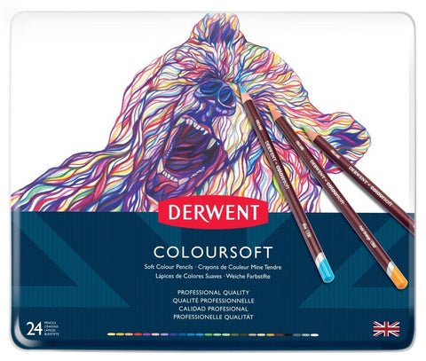 Derwent Coloursoft Pencil 24 Tin Set