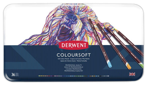 Derwent Coloursoft Pencil 36 Tin Set