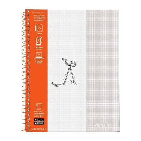 "Midoco.ca: Whitelines Grid Notebook 8.5"" x 11"""