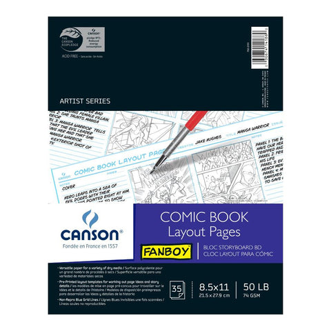 "Canson Fanboy Comic Layout Pad 8..5""x11"""