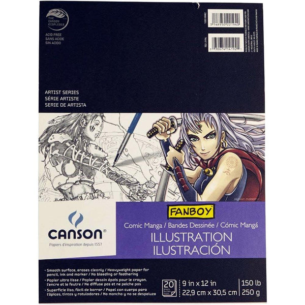 Canson Fanboy Manga Illustration Pad 9x12""