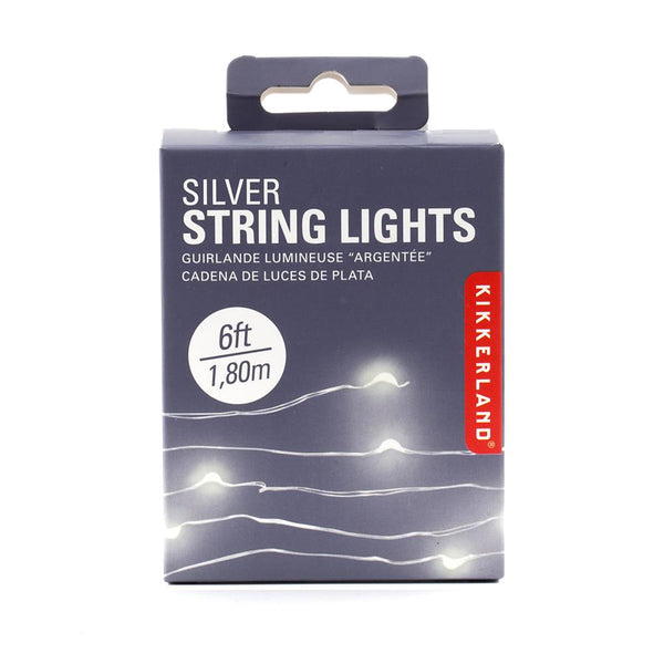 Kikkerland Mini LED String Lights - Silver