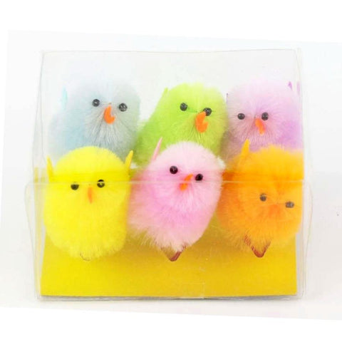 Midoco.ca: Chenille Chicks 6pk Assorted