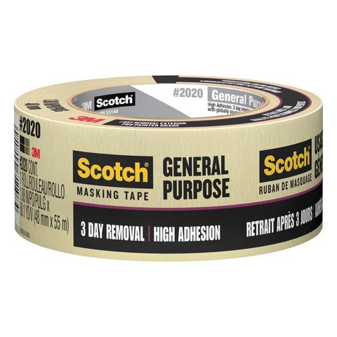 "Scotch Masking Tape 2""x60yds Natural"