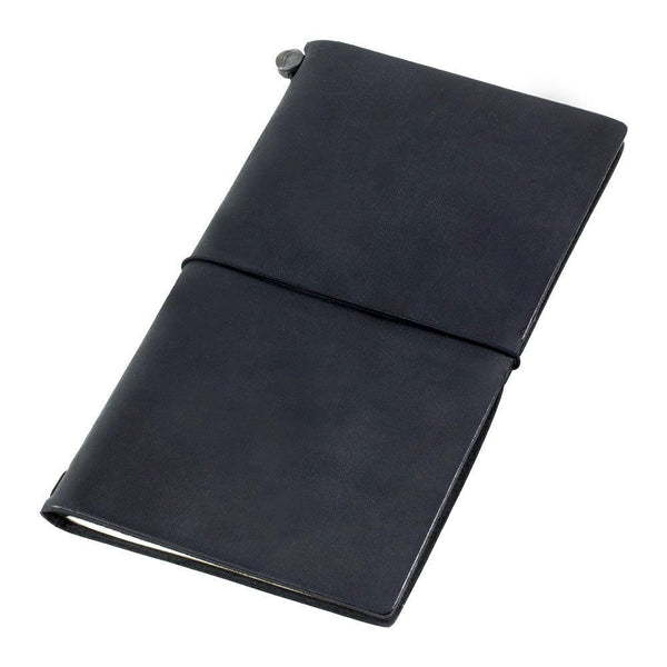 Midori Leather Traveler's Notebook - Black