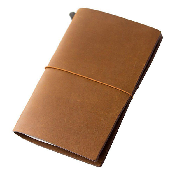 Midori Leather Traveler's Notebook - Camel