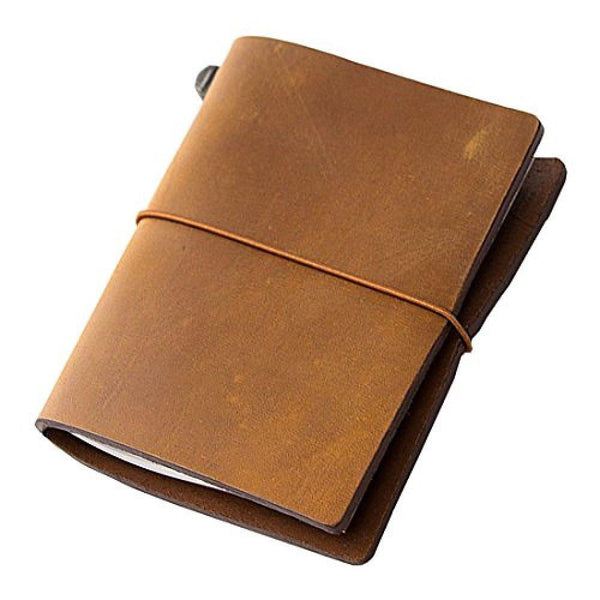 Midori Leather Passport Traveler's Notebook - Camel