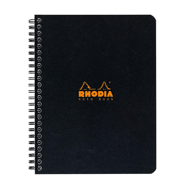 Midoco.ca: Rhodia A5+ Ruled Coil Notebook - Black