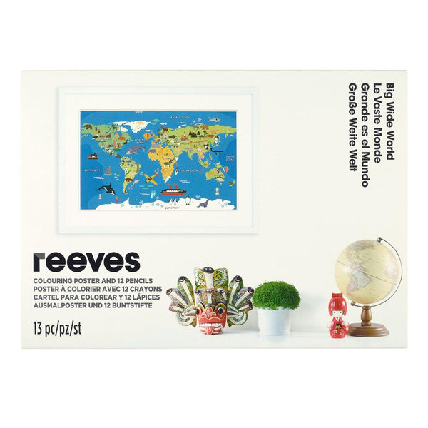 "Reeves Colouring Kit Poster ""Big Wide World"""
