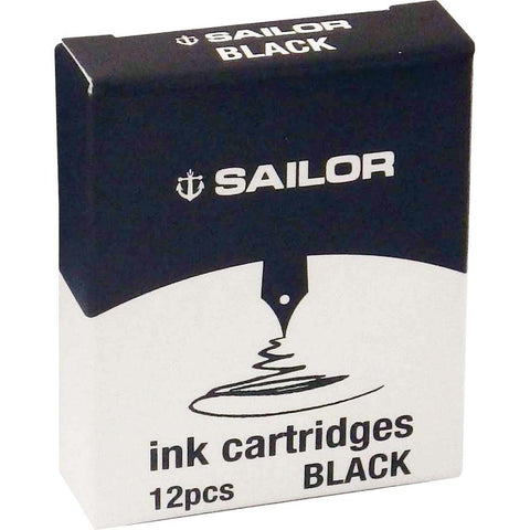 Sailor Ink Cartridges Jentle Black 12pk